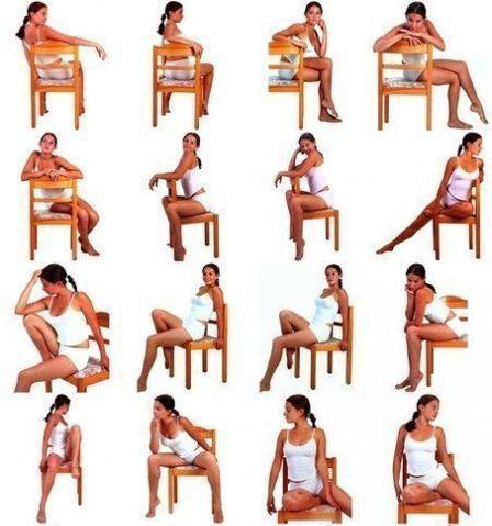 фотосессия со стулом позы, ракурсы