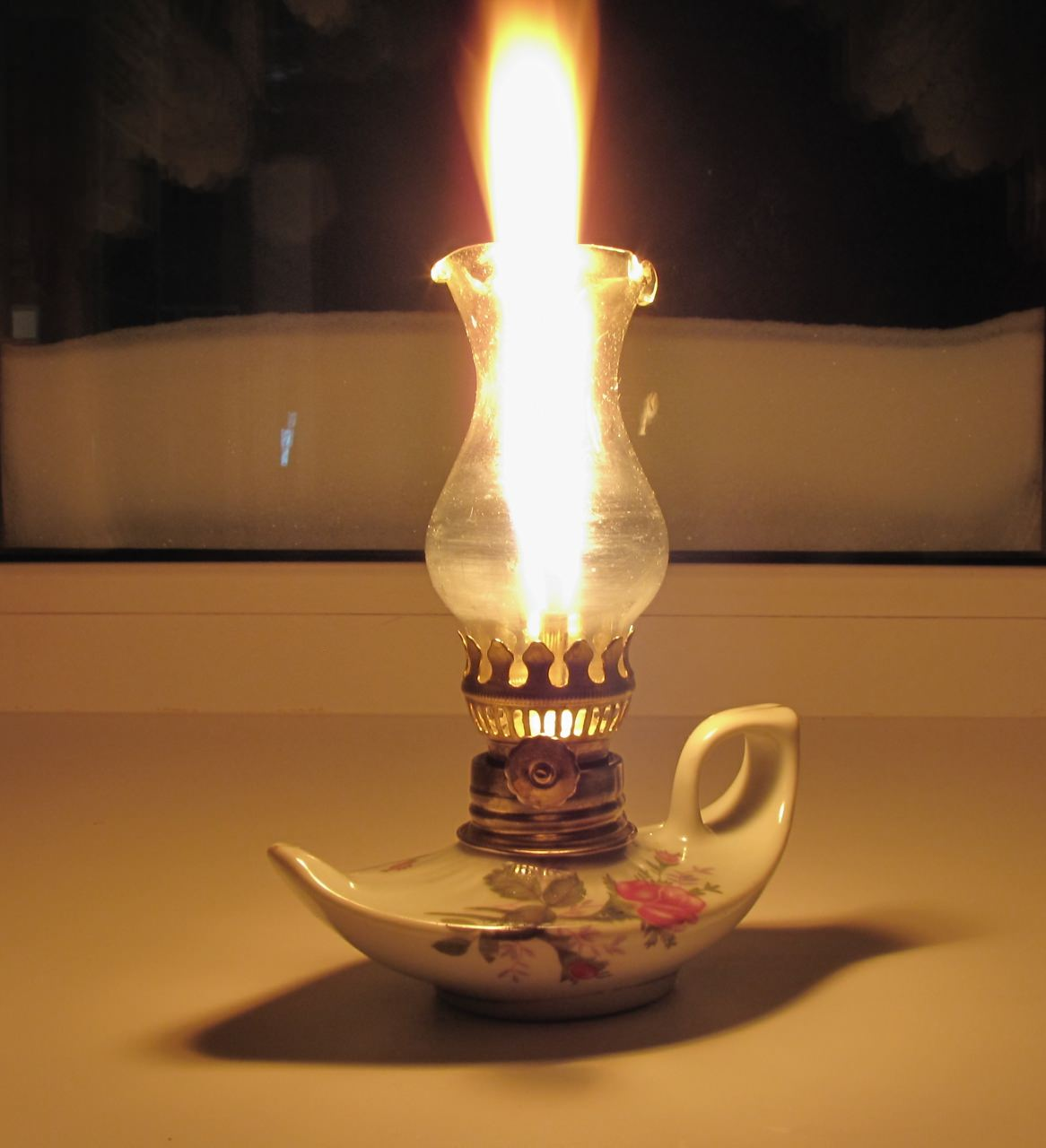 масляный светильник своими руками в виде керосиновой лампы или лампы джина