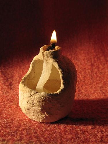 керамический масляный светильник
