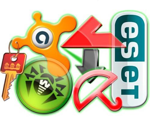 иконки антивирусов вместе, по для новой ос