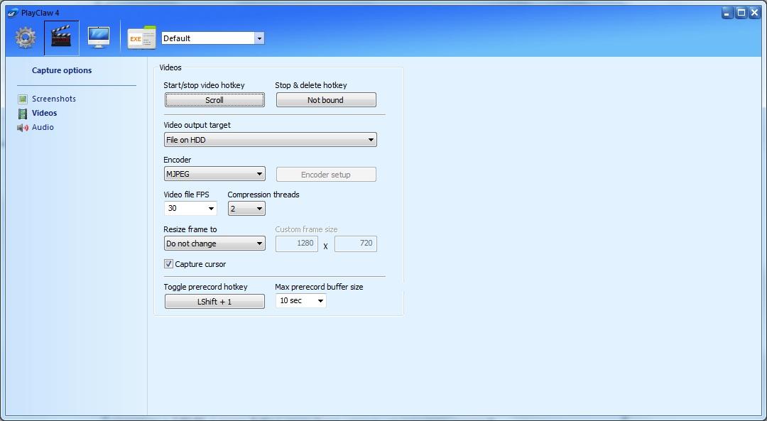 playclaw - работа функции предзапись, зачем она нужна, интерфейс программы