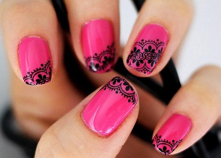 накрашенные ногти, красивое нанесение лака