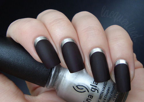 черные матовые ногти, матовый лак как выглядит на ногтях