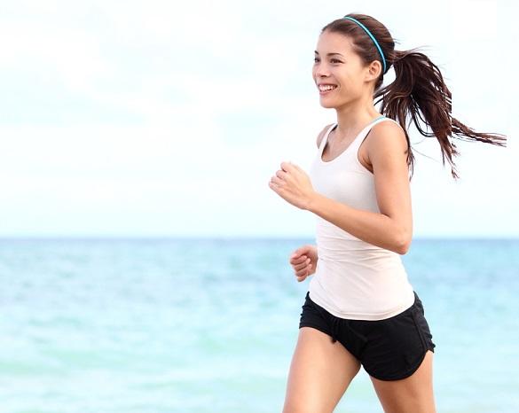 бегущая девушка, бег как борьба со стрессом