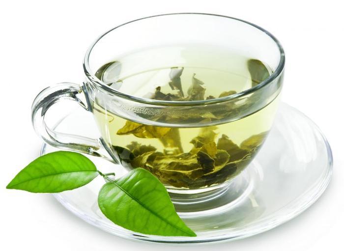 зеленый чай, напиток и листья зеленого чая, в чем польза