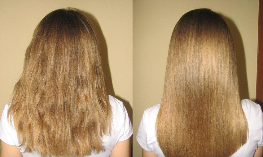 ламинирование волос дома, самостоятельно, ламинирование до и после