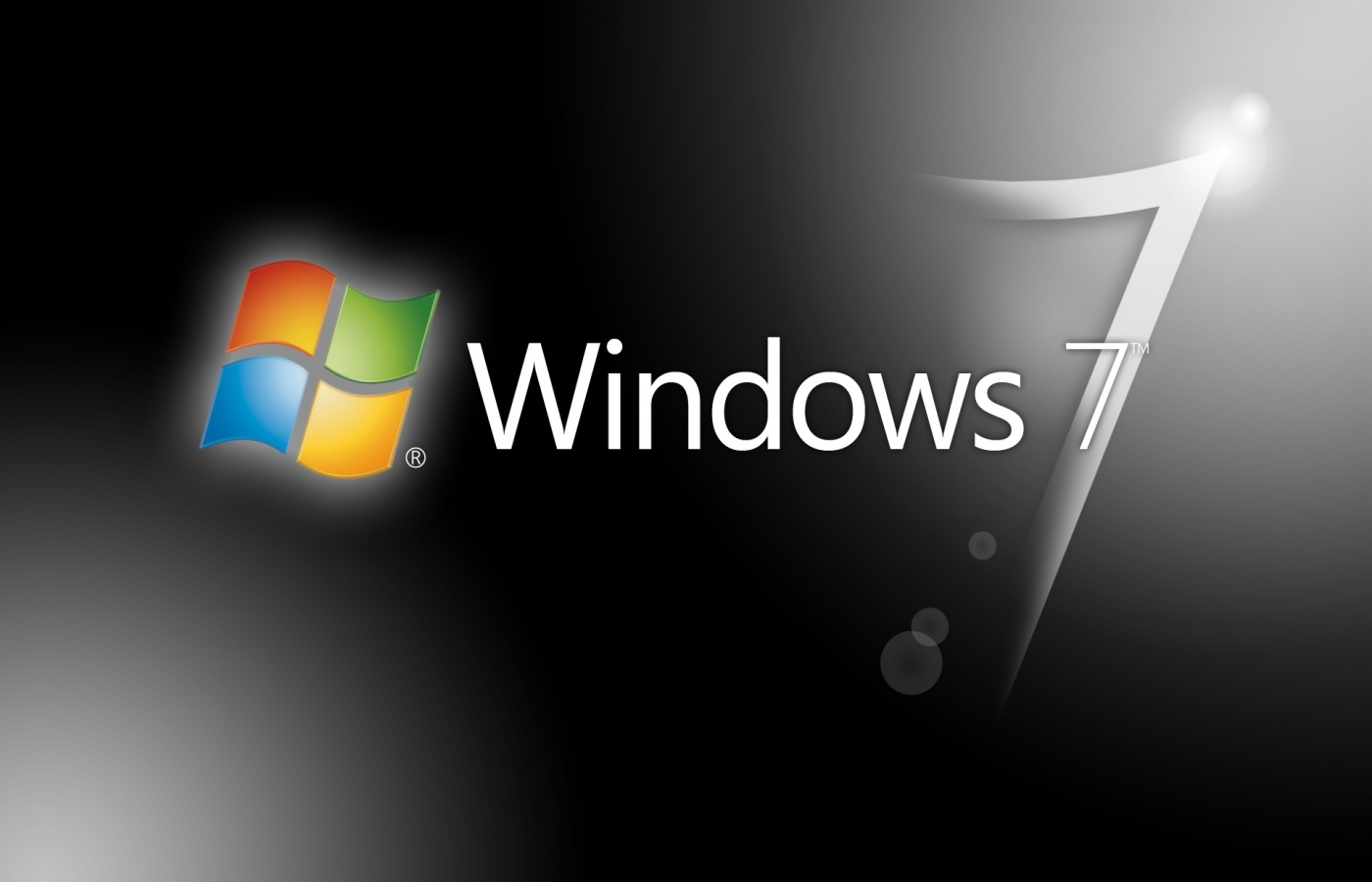 windows 7 установка, логотип, простые обои