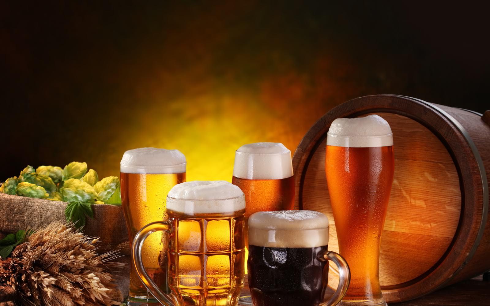 пиво светлое, темное, бочка пива
