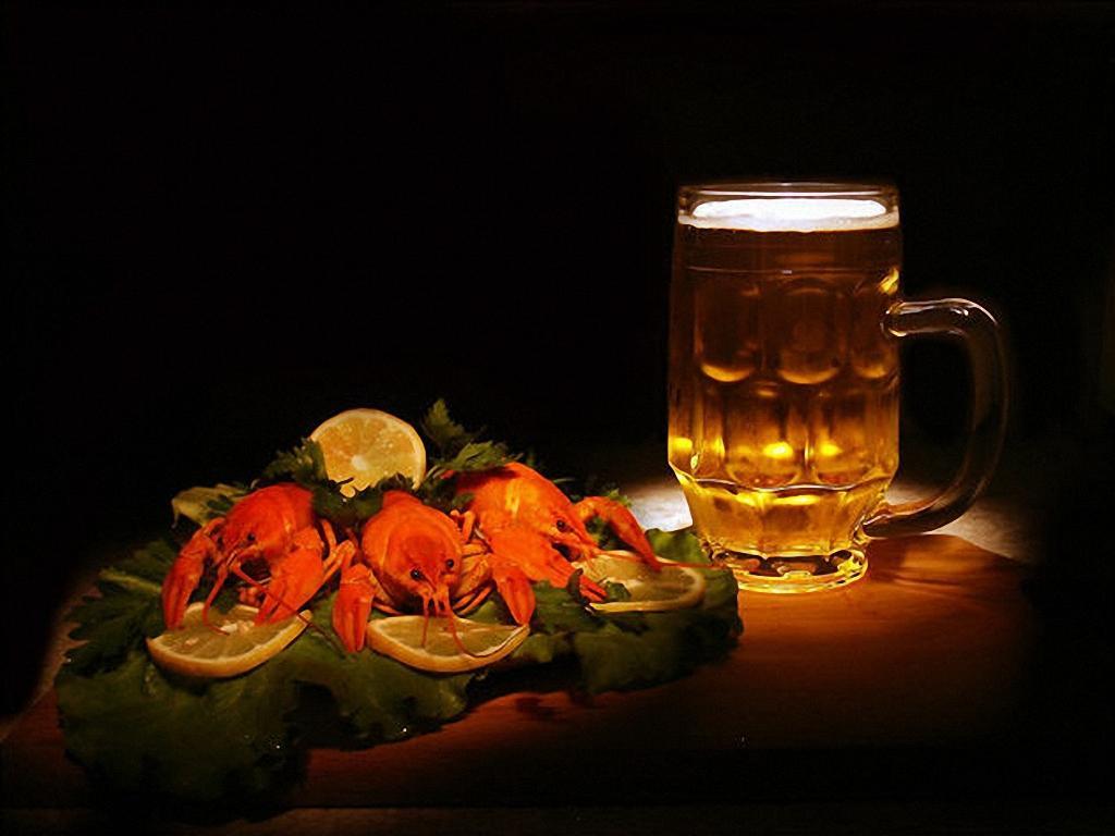 пиво и раки, закуска к пиву, как пить пиво