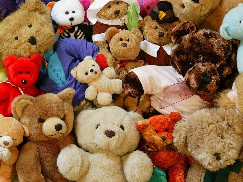 детские мягкие игрушки, много, милые медвежата