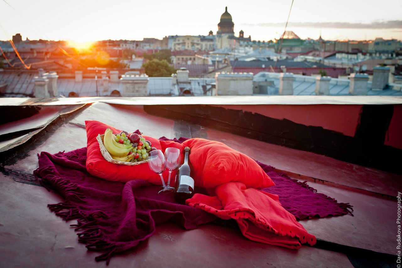романтика на крыше, место для секса