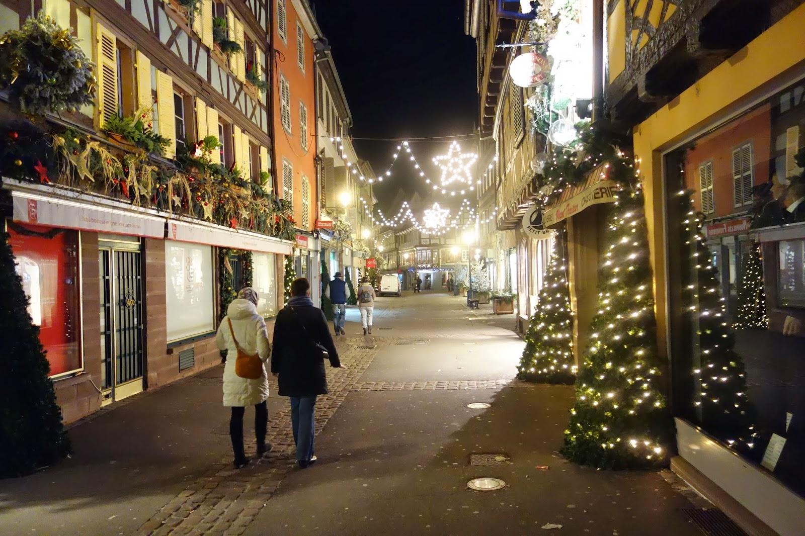 прогулка по вечернему, новогоднему городу