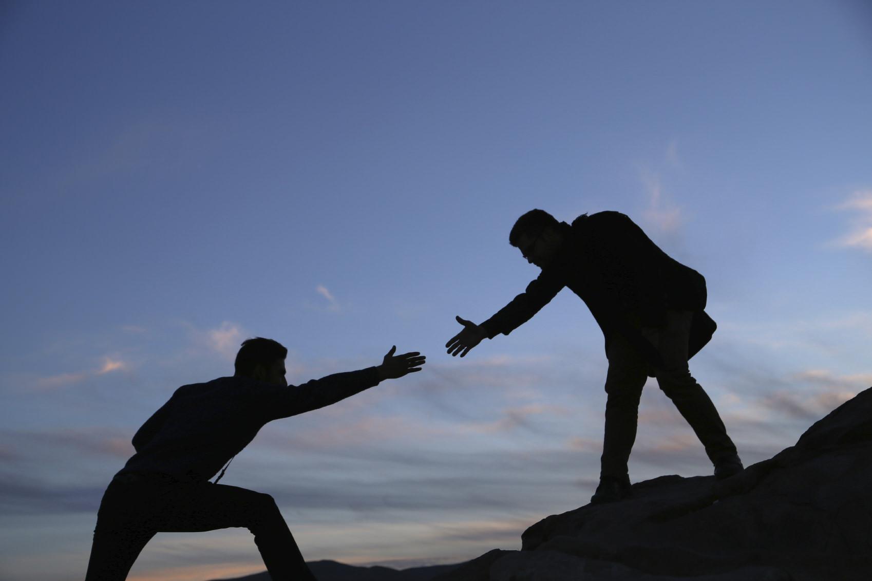 помощь человеку, рука помощи