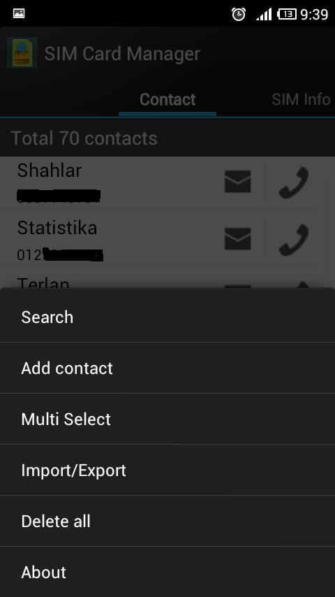 sim card manager - управление сим картой в android