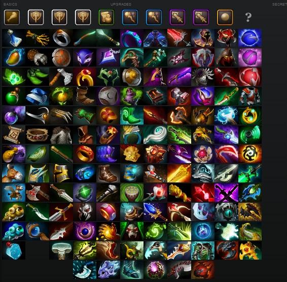 dota 2 все предметы игры, красочные