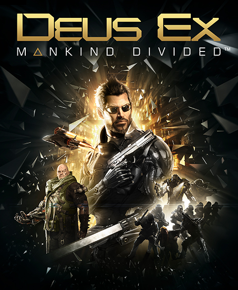 Deus Ex: Mankind Divided logo, coverart, логотип, картинка